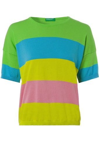 United Colors of Benetton Kurzarmpullover, in sommerlich frischem Streifen-Design kaufen