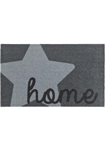 Zala Living Fußmatte »Star Home«, rechteckig, 7 mm Höhe, Fussabstreifer, Fussabtreter, Schmutzfangläufer, Schmutzfangmatte, Schmutzfangteppich, Schmutzmatte, Türmatte, Türvorleger, mit Spruch, rutschhemmend beschichtet, waschbar kaufen