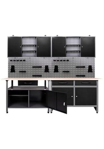 ONDIS24 Werkstatt - Set 2x Werkbank, 2x Werstattschrank, 2x Lochwand kaufen