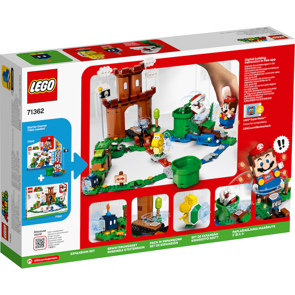 LEGO® Konstruktionsspielsteine »Bewachte Festung – Erweiterungsset (71362), LEGO® Super Mario«, (468 St.), Made in Europe