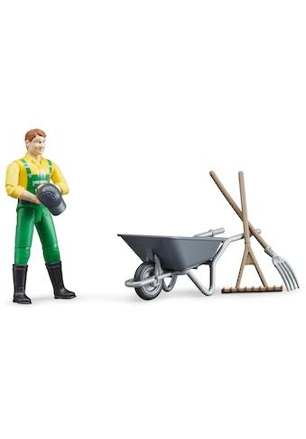 Bruder® Spielfigur »Landwirt«, (Set), Made in Germany kaufen