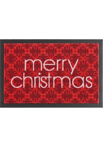 HANSE Home Fußmatte »Merry Christmas«, rechteckig, 7 mm Höhe, Schmutzfangmatte, mit... kaufen