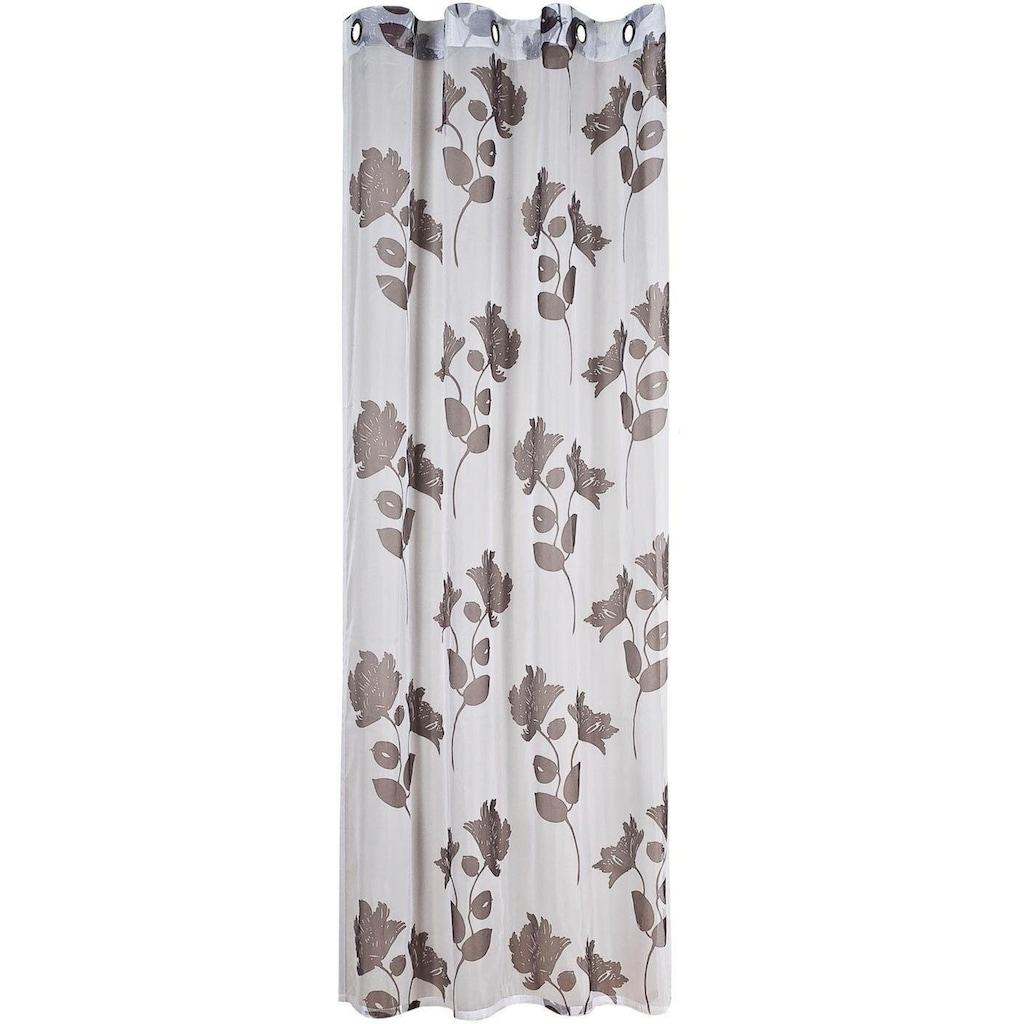 Gerster Vorhang »Fedra«, HxB: 235x140, Ösenschal aus Voile, bedruckt