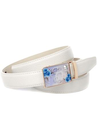 Anthoni Crown Ledergürtel, in weiß mit Sommerfeeling kaufen
