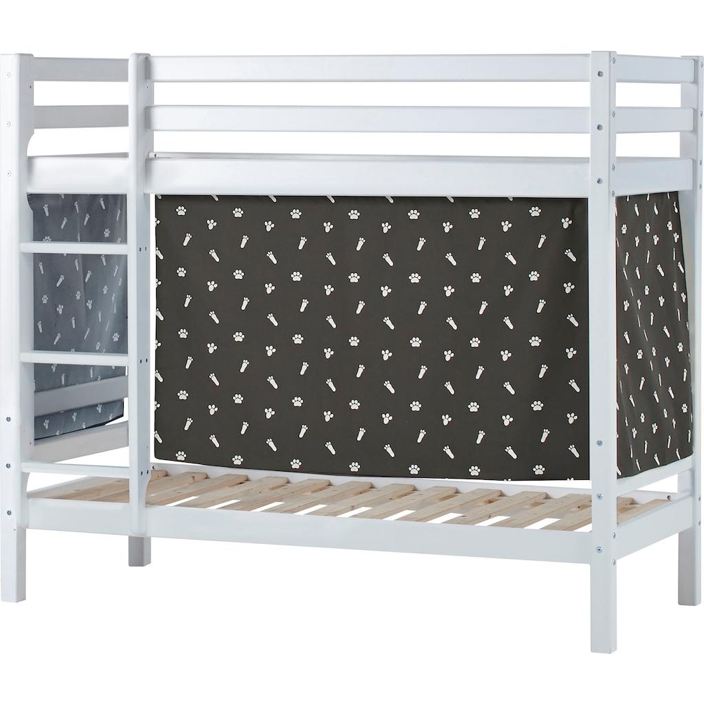 Hoppekids Etagenbett, Liegefläche 70x160 cm, mit Textilset und wahlweise mit Matratze