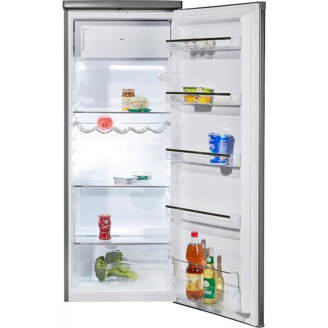 Hanseatic Kühlschrank, 143 cm hoch, 55 cm breit