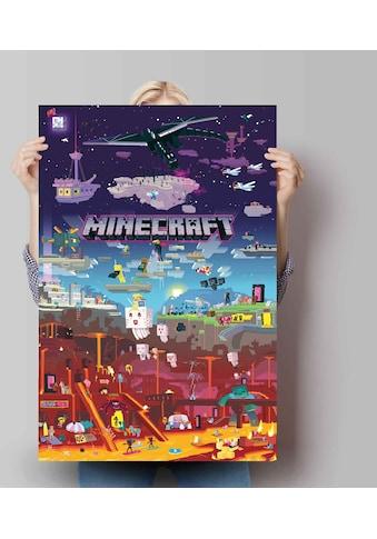 Reinders! Poster »Poster Minecraft - world beyond«, Spiele, (1 St.) kaufen