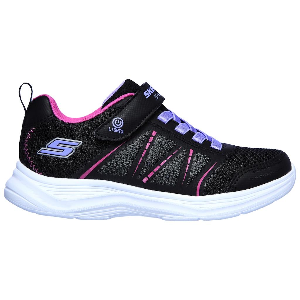 Skechers Kids Sneaker »GLIMMER KICKS«, mit Klettverschluss und Gummizug