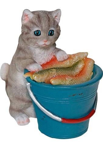 Home affaire Dekofigur »Katze am Eimer voller Fische« kaufen