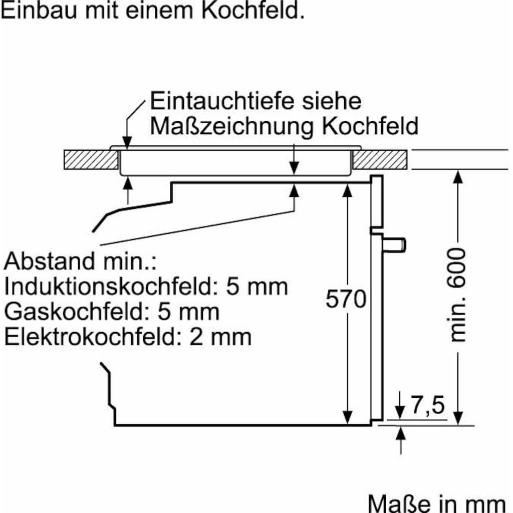 Constructa Einbaubackofen »CF3M50050«, CF3M50050, mit Teleskopauszug nachrüstbar