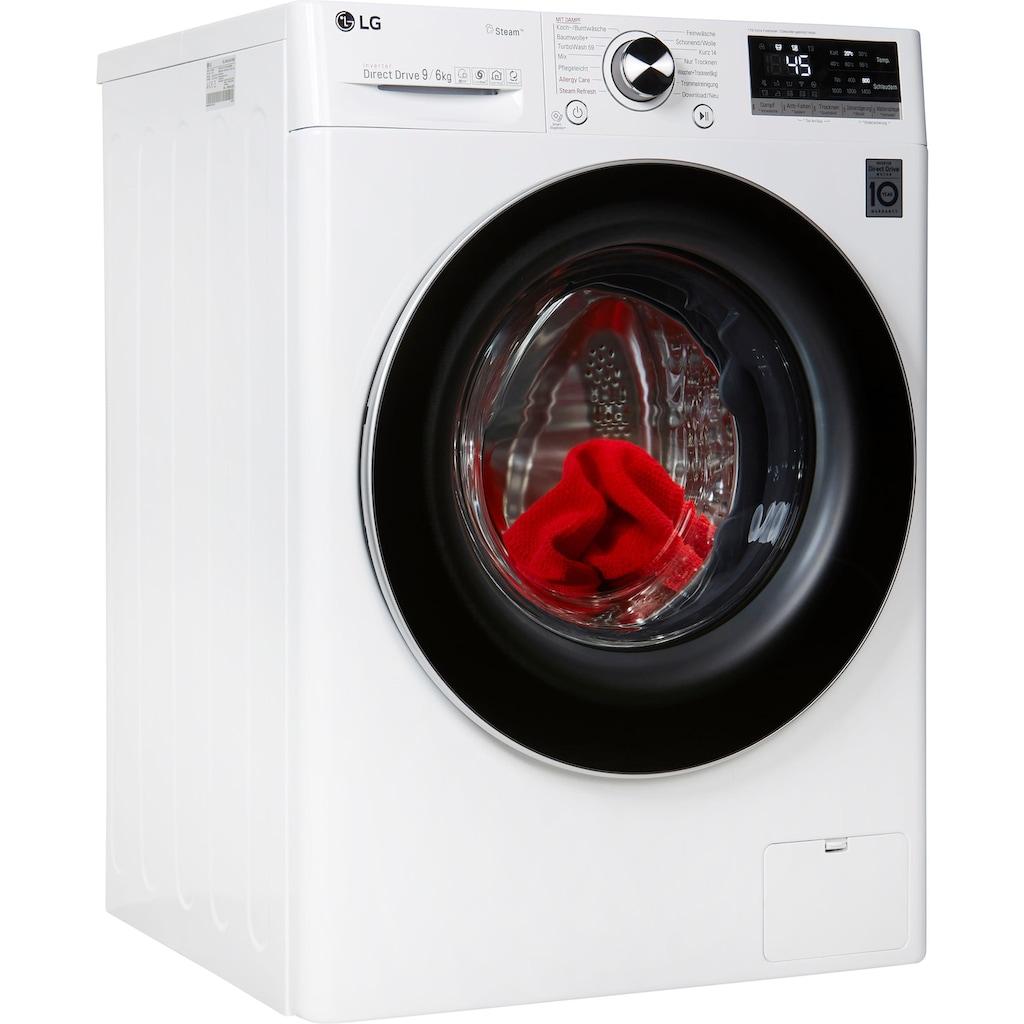 LG Waschtrockner »V7WD96H1«, 52 dB