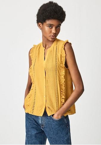 Pepe Jeans Blusentop »ISLA«, mit durchgehender Knopfleiste, kleinen Plissees und mit... kaufen