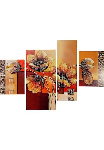 DELAVITA Bild »RUMIN / Mohnblumen«, (4 St., 4-teilig) kaufen