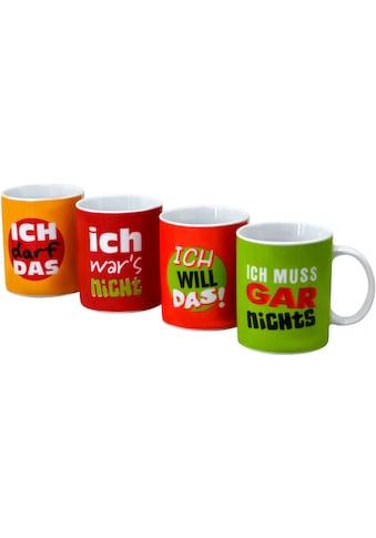 Retsch Arzberg Becher »Machosprüche«, (Set, 4 tlg.), 4-teilig kaufen