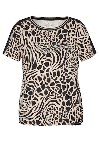 Rabe T-Shirt, mit Animalprint und Glitzersteinen kaufen