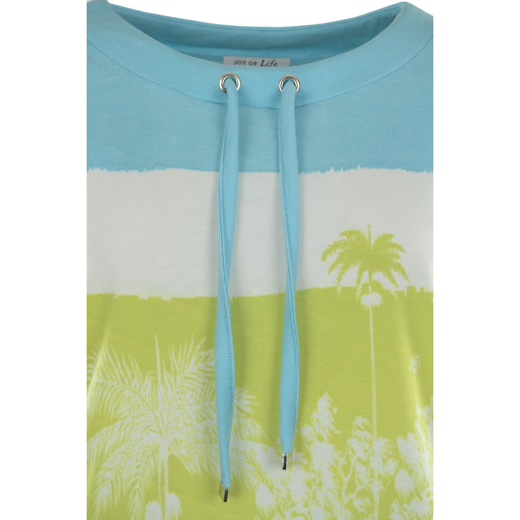 Hajo Sweatshirt, mit Palmenprint