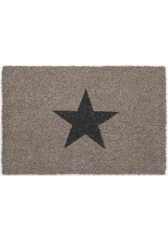 Andiamo Fußmatte »Kokos Star«, rechteckig, 15 mm Höhe, Schmutzfangmatte, Motiv Sterne,... kaufen