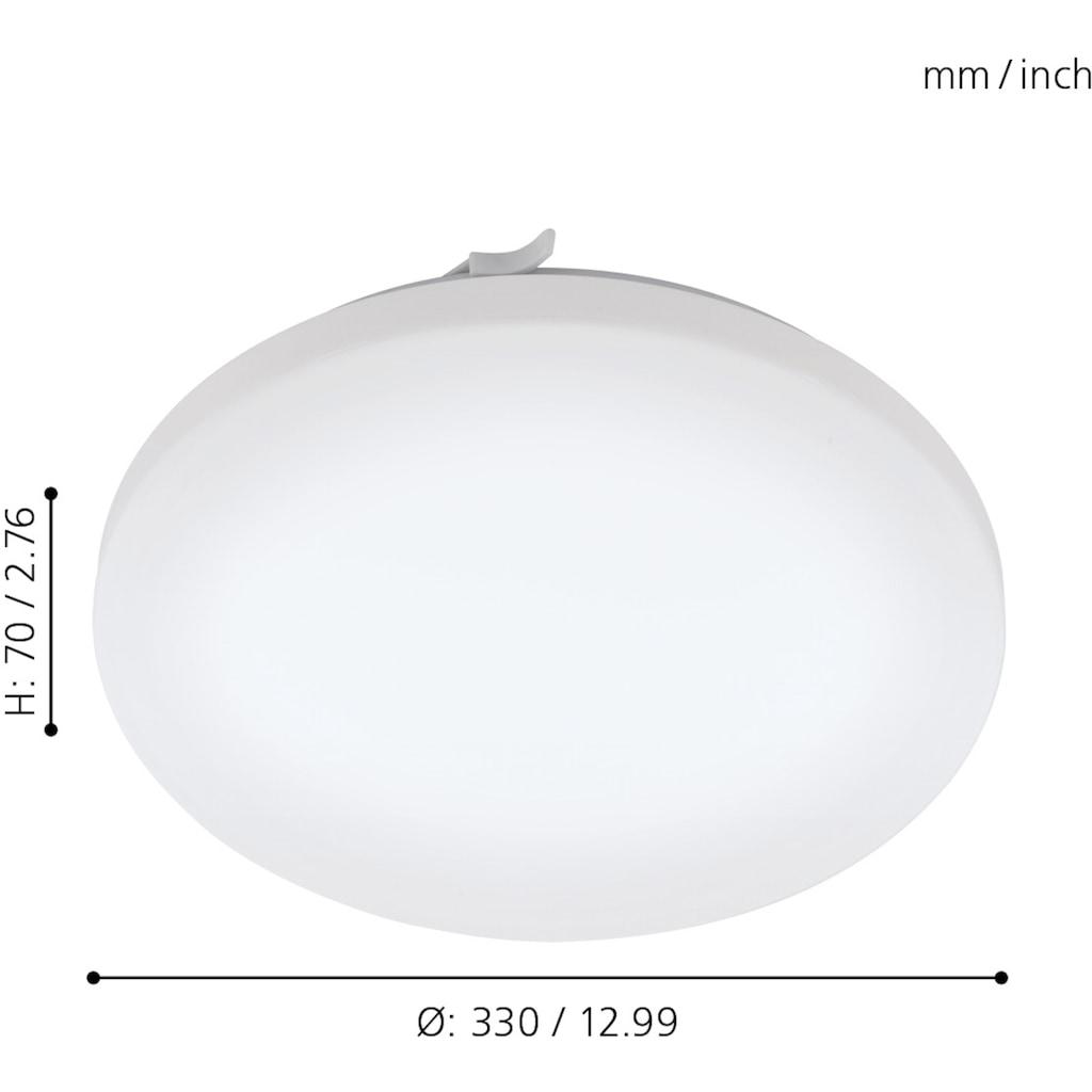 EGLO LED Deckenleuchte »FRANIA«, LED-Board, Warmweiß, Badleuchte, spritzwassergeschützt