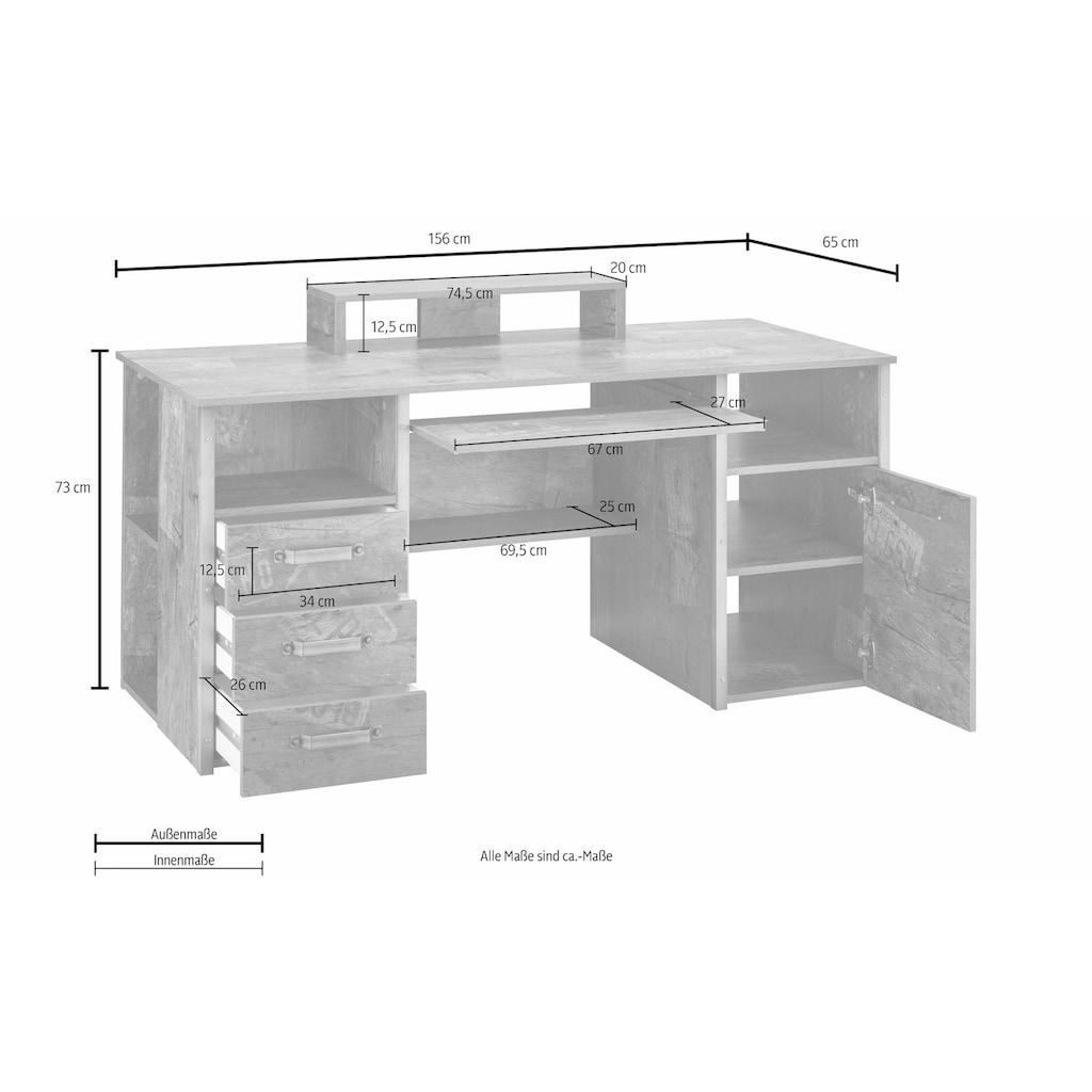 Schildmeyer Schreibtisch »Harkon«, mit Griffen und Winkeln in Stahl-Design