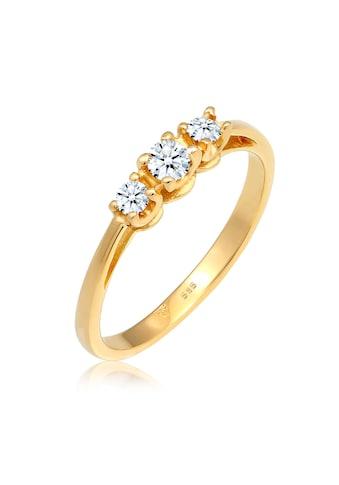 Diamore Verlobungsring »Verlobungsring Trio Diamant 0.23 ct. 585 Gelbgold« kaufen