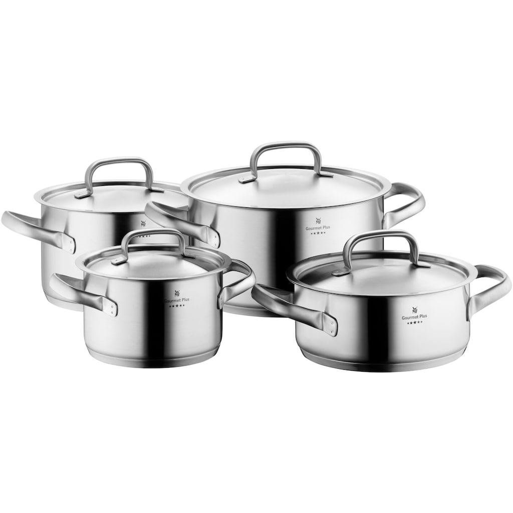 WMF Topf-Set »Gourmet Plus«, Cromargan® Edelstahl Rostfrei 18/10, (Set, 4 tlg.), induktionsgeeignet