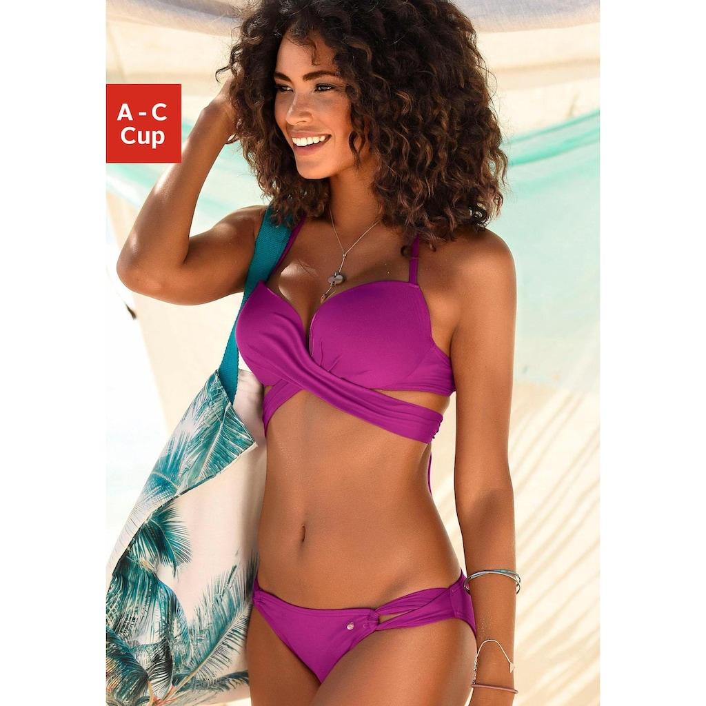 s.Oliver Beachwear Push-Up-Bikini, mit zusätzlichen Bindebändern