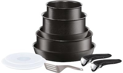 Tefal Topf-Set »Ingenio Performance«, Aluminium, (Set, 10 tlg.), abnehmbarer Griff, Antihaft-Versiegelung, Thermo-Spot, Induktion kaufen