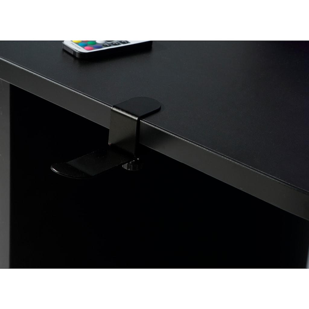 FORTE Gamingtisch »Tezaur«, mit RGB-Beleuchtung und Halterungen