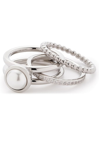 LEONARDO Ring-Set »Set/3 Ring 17, 18, 19 Perla, 016868«, (Set, 3 tlg.), mit... kaufen