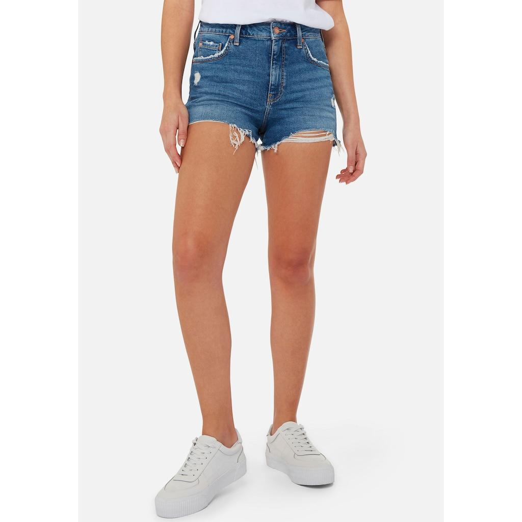 Mavi Jeansshorts »ROSIE-MA«, mit ausgefransten Saumabschluss