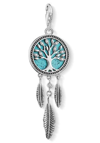 THOMAS SABO Charm-Einhänger »Traumfänger Baum »Tree of Love« türkis, 1844-646-17«, mit... kaufen