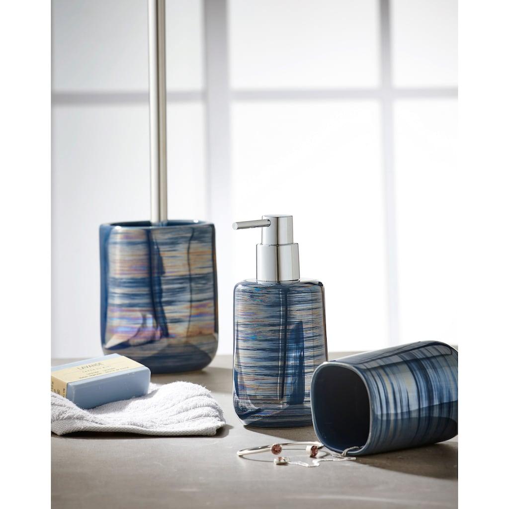 Kleine Wolke WC-Garnitur »Argentic«, elegante Accessoire Serie mit Silber Effekt Glasur