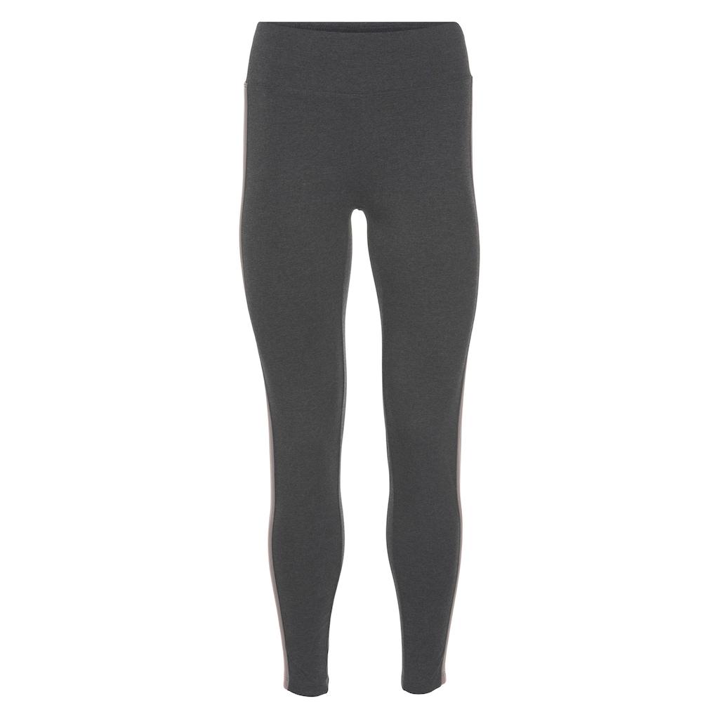 H.I.S Highwaist Leggings »Nachhaltig aus zertifizierter Bio-Baumwolle«, mit breitem Komfortbund