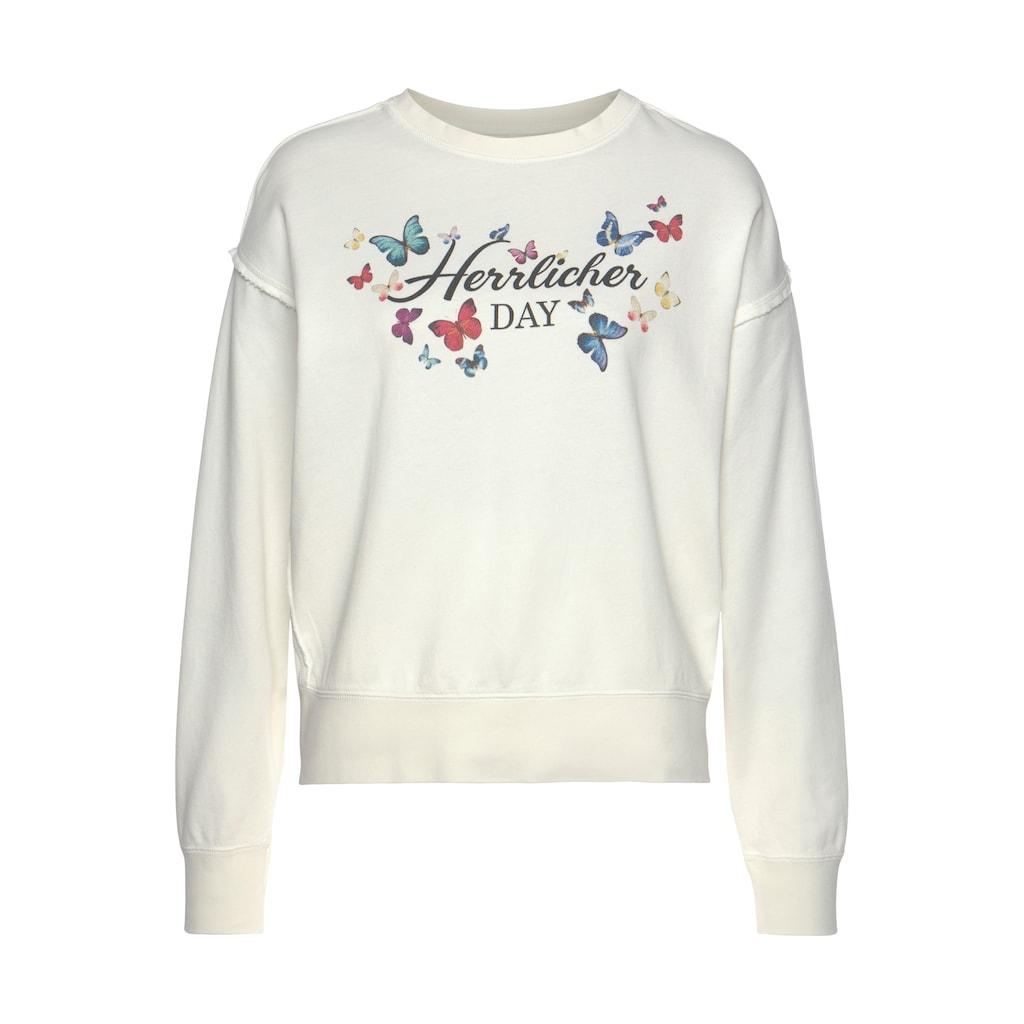 Herrlicher Sweatshirt »CARRIE«, mit Multicolor-Butterfly-Print vorn