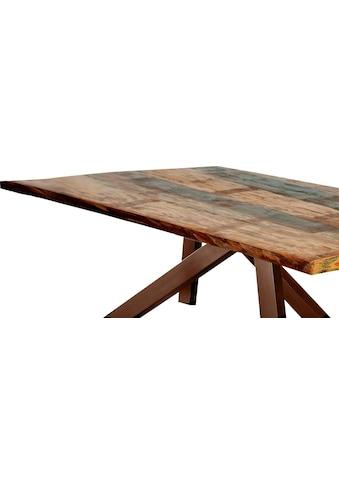 SIT Tischplatte, aus recyceltem Altholz, in Vintage Optik kaufen