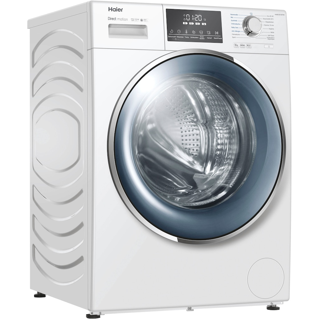Haier Waschmaschine »HW80-B14876N«, HW80-B14876N, 8 kg, 1400 U/min