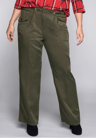 Sheego Cargohose, im Military-Look kaufen