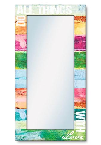 Artland Wandspiegel »Tu alles mit Liebe«, gerahmter Ganzkörperspiegel mit Motivrahmen,... kaufen