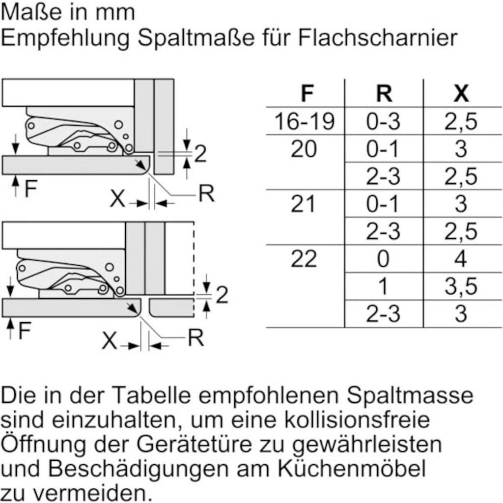 BOSCH Einbaukühlgefrierkombination »KIS86AFE0«, 6