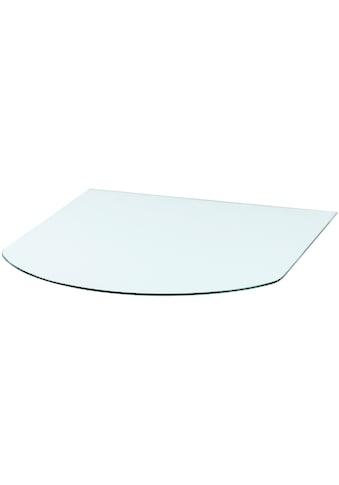 Heathus Bodenschutzplatte, Halbrundbogen, BxT: 85 x 110 cm, Milchglas, für Kaminöfen kaufen