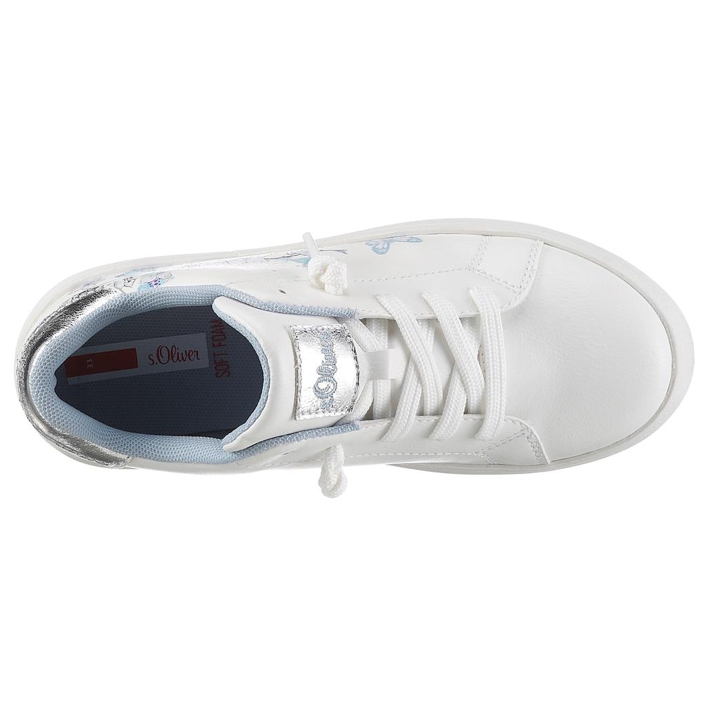 s.Oliver Sneaker, mit hübschem Blütenprint
