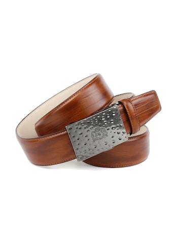 Anthoni Crown Ledergürtel, mit gehämmerter Schließe kaufen