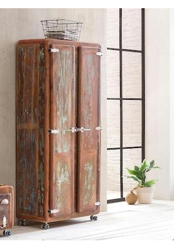 SIT Garderobenschrank »Fridge«, mit Kühlschrankgriffen, Shabby Chic, Vintage kaufen