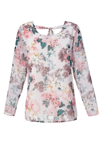 Aniston CASUAL Schlupfbluse, mit romantischem Blumendruck kaufen