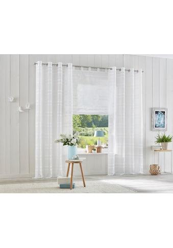 my home Raffrollo »Assen«, mit Schlaufen kaufen