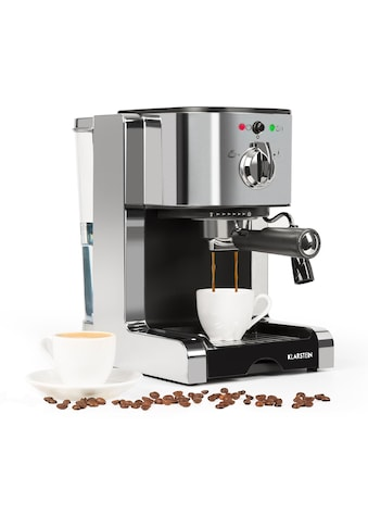 Klarstein Espressomaschine Capuccino Siebträgermaschine Milchaufschäumer »Passionata 15« kaufen