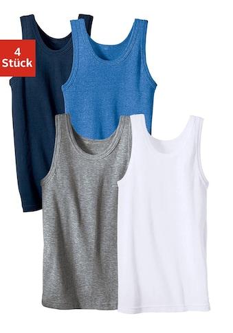 Unterhemd, (4 St.), schlichtes Basic aus Feinripp kaufen