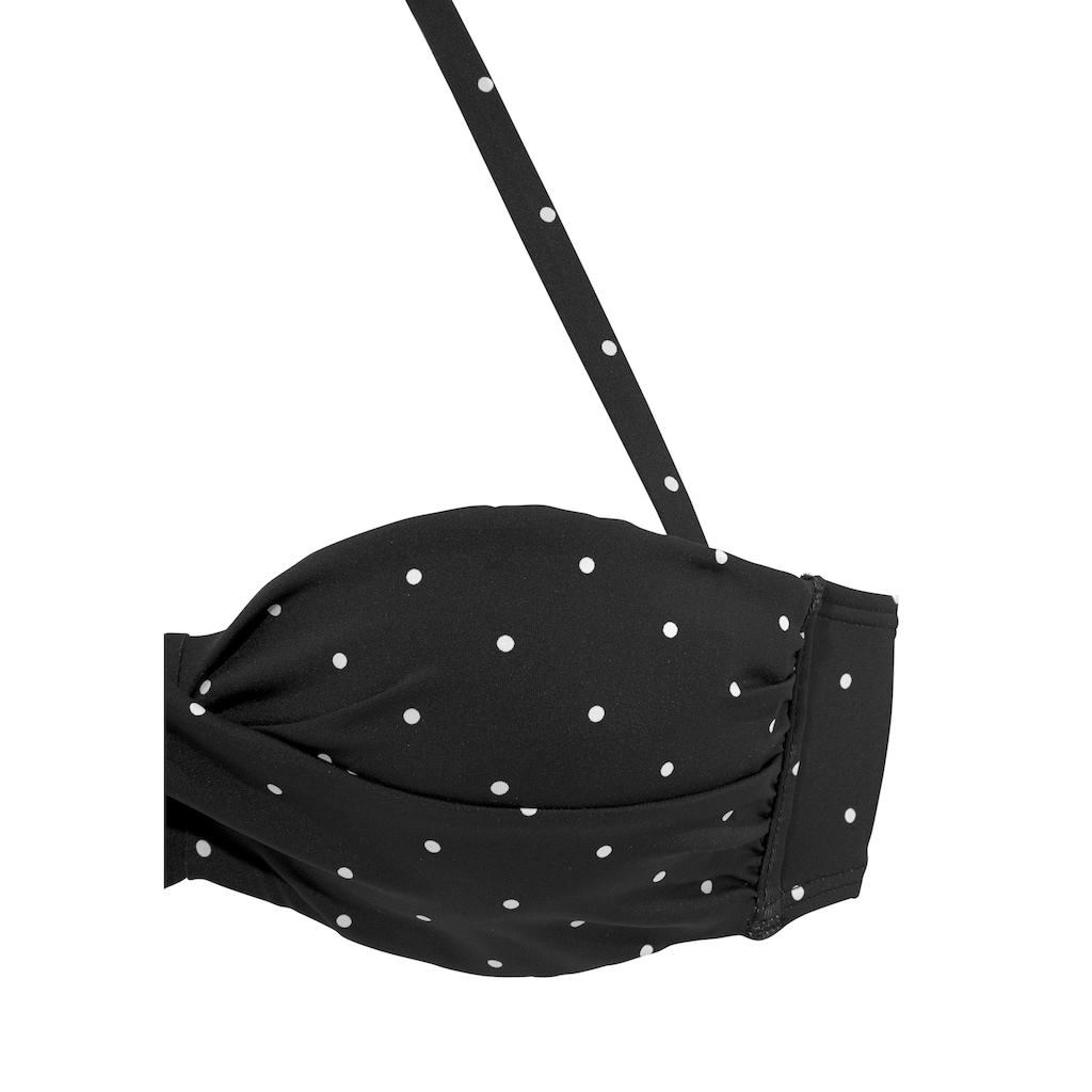 LASCANA Bügel-Bandeau-Bikini-Top »Sparkel«, mit klassischen Tupfen