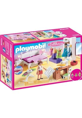 Playmobil® Konstruktions-Spielset »Schlafzimmer mit Nähecke (70208), Dollhouse«, (67... kaufen