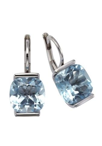 Zeeme Paar Ohrhänger »925/- Sterling Silber Blautopas«, rhodiniert kaufen